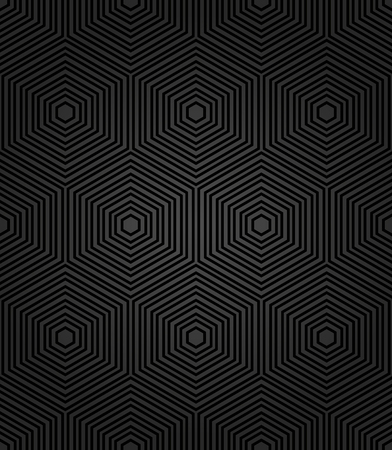 fine: Geometric fine abstract vector dark background with black hexagons. Seamless modern pattern