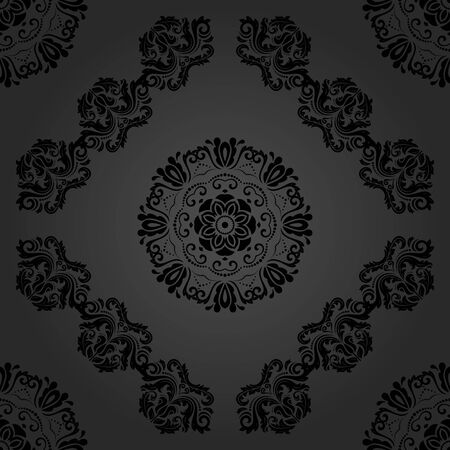 oriental background: Oriental classic pattern. Seamless abstract dark background Stock Photo
