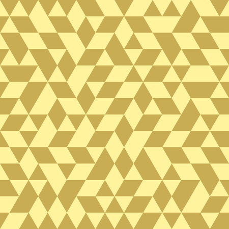 golde: Geometric vector pattern with dark and light golden triangles. Seamless abstract background