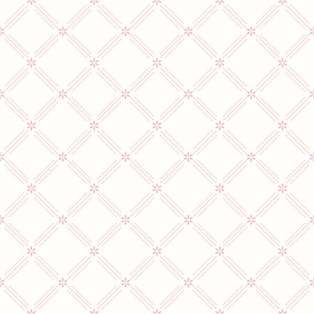 repeat pattern: Geometric repeating vector ornament with diagonal dotted lines. Seamless abstract modern pink pattern Illustration