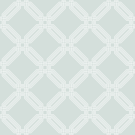 Geometric fine abstract vector background. Seamless modern pattern with white octagons