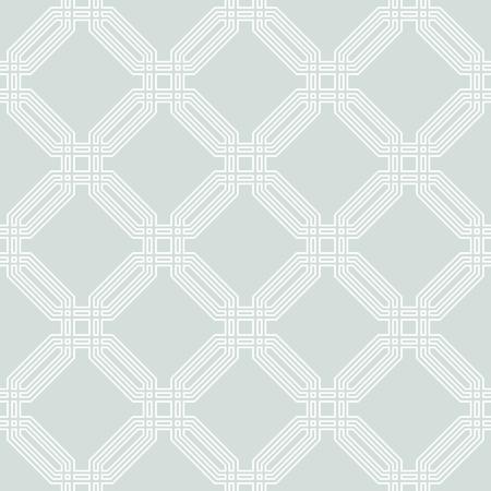 Geometrische fijne abstract vector achtergrond. Naadloos modern patroon met witte octagons Stock Illustratie