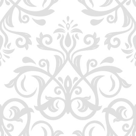 Oriental classic silver pattern. Seamless abstract background
