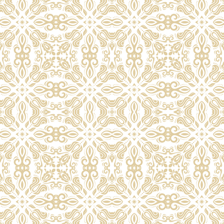 arabic background: Oriental vector classic golden ornament. Seamless abstract pattern