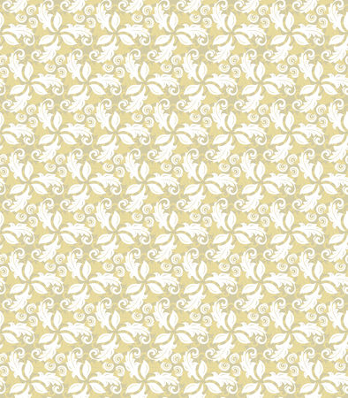 fine: Floral vector ornament. Seamless abstract background with fine golden pattern