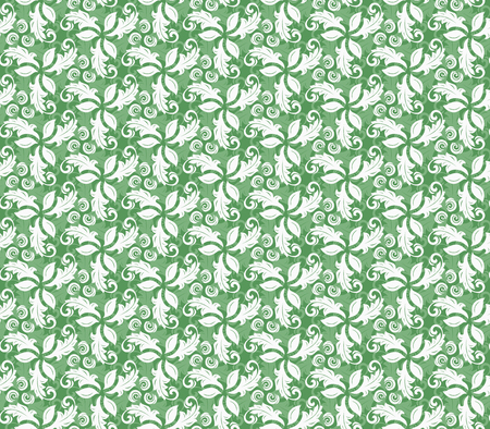 fine: Floral vector green ornament. Seamless abstract background with fine pattern Illustration