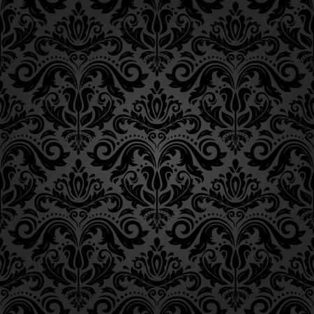 Oriental classic pattern. Seamless abstract dark background Stockfoto