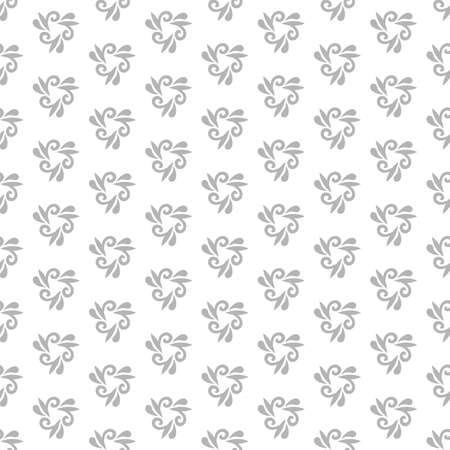 fine: Floral ornament. Seamless abstract classic fine light pattern Stock Photo