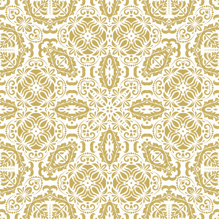 oriental vector: Oriental vector classic golden ornament. Seamless abstract pattern