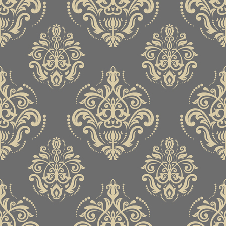 Oriental vector classic golden ornament. Seamless abstract pattern. Fine orient background for design and decorate Illustration