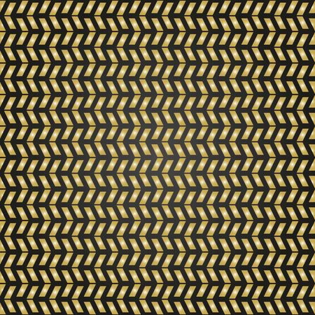 brown pattern: Geometric brown pattern with golden triangles. Seamless abstract background Stock Photo