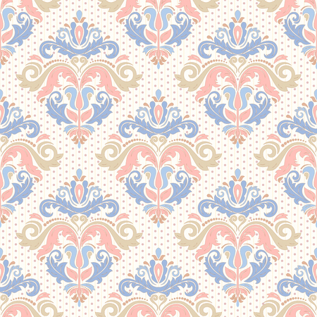Oriental vector classic colorful ornament. Seamless abstract pattern with pastel colors. Orient background for design and decorate Illustration