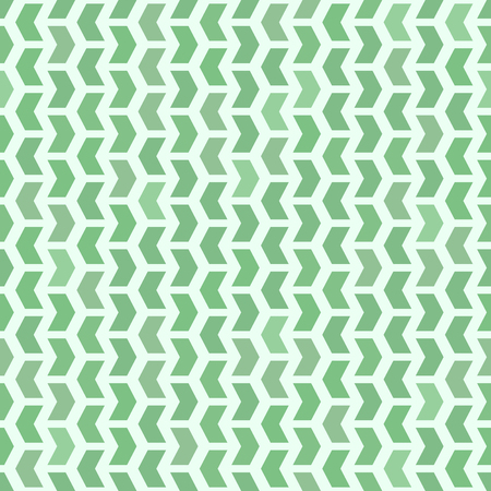green arrows: Geometric vector pattern with green arrows. Seamless abstract background Illustration