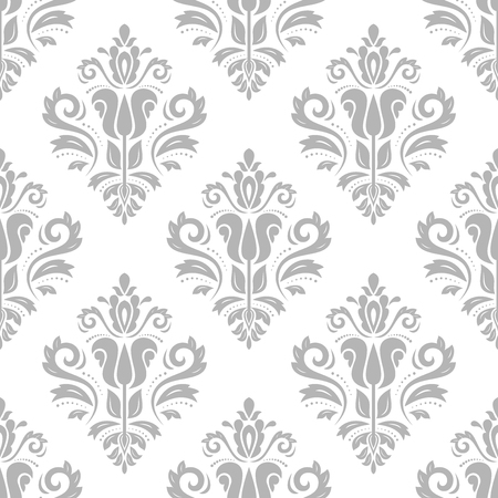 Damask seamless ornament. Traditional vector pattern. Classic oriental background for design and decorate