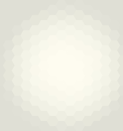 Geometric abstract vector background. Pattern with light yellow hexagons and flow effect Stock Illustratie