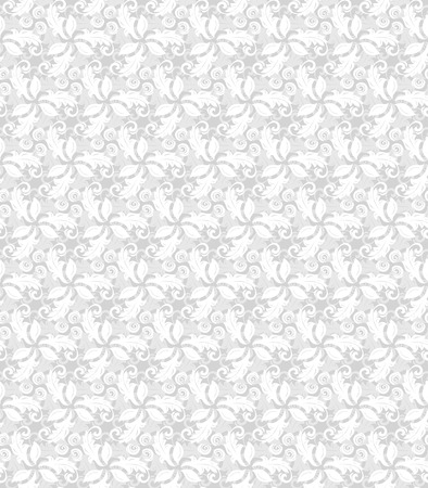 fine: Floral ornament. Seamless abstract classic fine light silver pattern