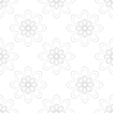 fine silver: Floral ornament. Seamless abstract classic fine silver pattern Stock Photo