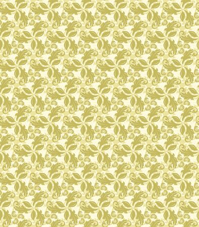 fine: Floral ornament. Seamless abstract fine golden pattern