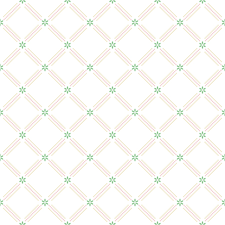 dotted lines: Geometric repeating vector ornament with colorful diagonal dotted lines. Seamless abstract modern pattern
