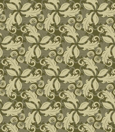 golde: Floral golden ornament. Seamless abstract pattern with fine ornament