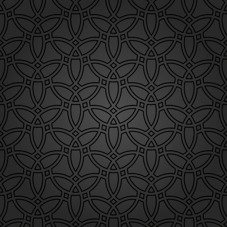 abstract art background: Seamless vector dark ornament. Modern geometric pattern with repeating elements Illustration