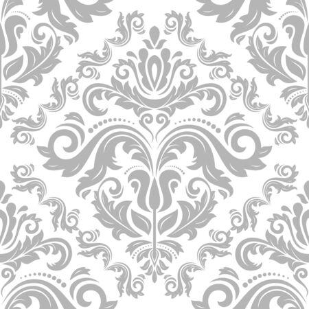 Patrón de plata clásico oriental. Fondo abstracto inconsútil Foto de archivo