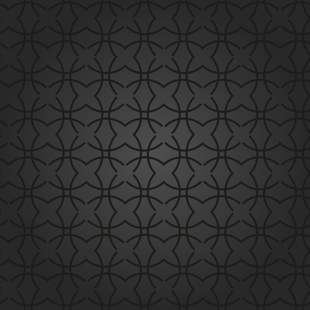 royal black background: Seamless vector black ornament. Modern geometric pattern with repeating elements