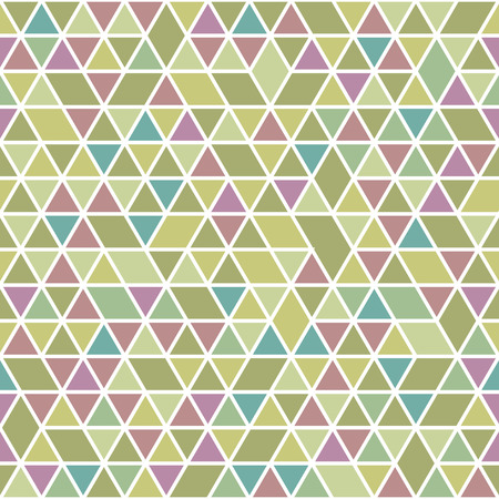 Geometric vector pattern with colorful triangles. Seamless abstract background