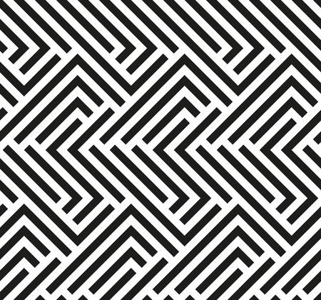 Seamless géométrique par des bandes. Moderne vecteur de fond avec des lignes répétitives. fond d'écran noir et blanc