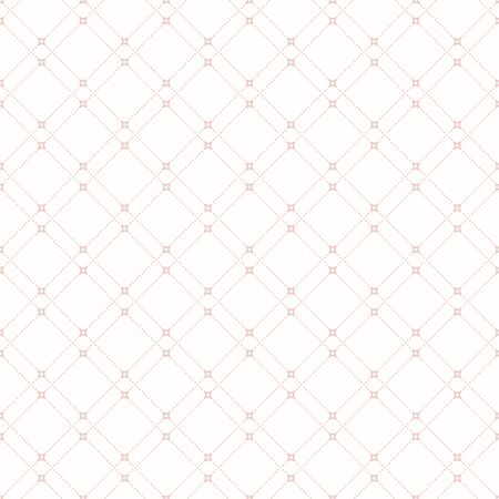 dotted lines: Geometric repeating vector ornament with diagonal dotted lines. Seamless abstract modern pattern. Light pink and white wallpaper Illustration