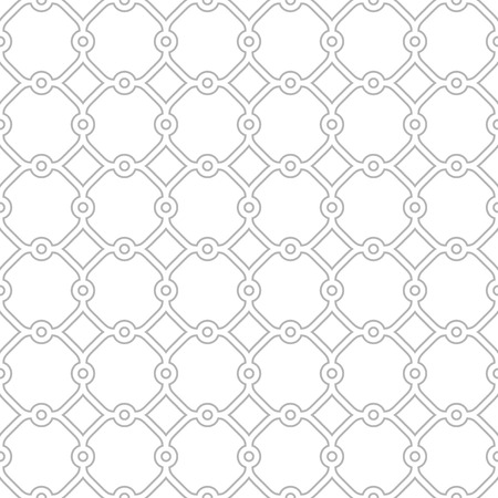 traditional silver wallpaper: Seamless vector grey ornament in arabian style. Pattern for wallpapers and backgrounds Illustration
