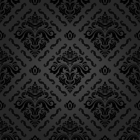 oriental vector: Oriental vector classic black pattern. Seamless abstract background