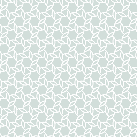 Seamless vector light blue and white ornament. Modern geometric pattern with repeating elements Illustration