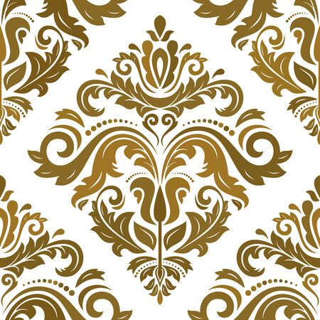 gold ornaments: Oriental classic colorful ornament. Seamless abstract pattern Stock Photo