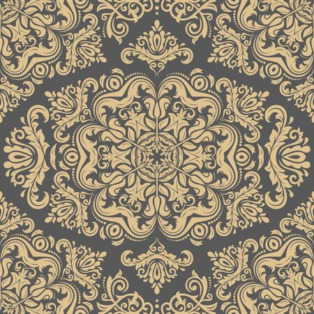 antique wallpaper: Damask seamless golden ornament. Traditional pattern. Classic oriental background