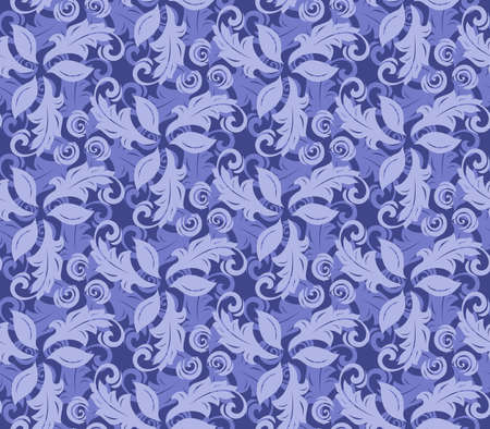 fine: Floral blue ornament. Seamless abstract background with fine pattern Stock Photo