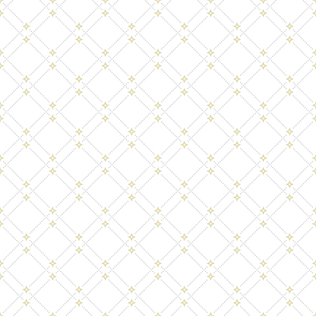 dotted lines: Geometric repeating ornament with diagonal silver and golden dotted lines. Seamless abstract modern pattern Stock Photo