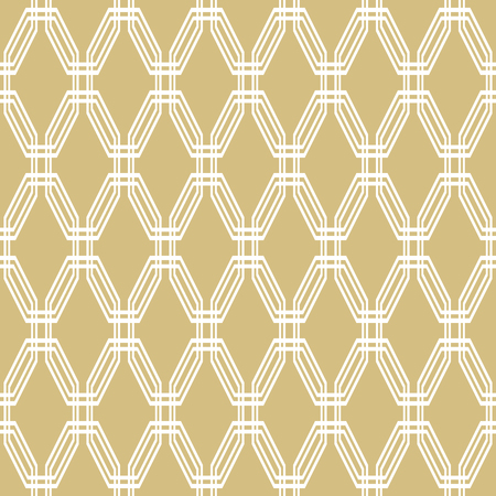 octagonal: Geometric fine abstract vector octagonal background. Seamless modern golden and white pattern