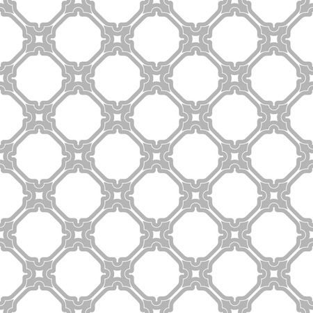 Seamless vector silver ornament in arabian style. Pattern for wallpapers and backgrounds