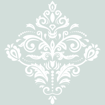 laced: Elegant vector ornament in the style of barogue. Abstract traditional white pattern with oriental elements Illustration