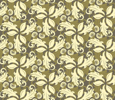 fine: Floral golden ornament. Seamless abstract background with fine pattern