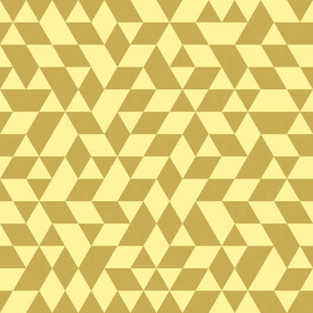 golde: Geometric pattern with dark and light golden triangles. Seamless abstract background
