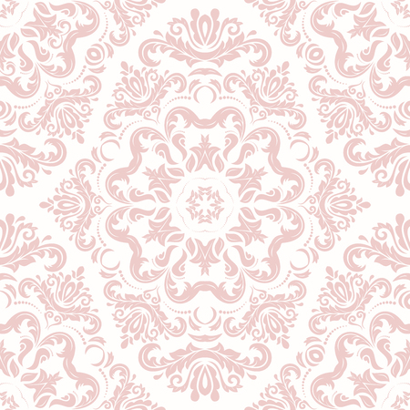oriental vector: Oriental vector classic nice pink ornament. Seamless abstract background