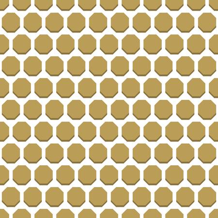 octagonal: Geometric fine abstract vector octagonal golden background. Seamless modern pattern