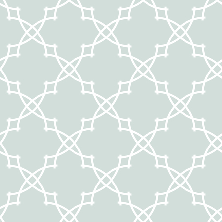 Seamless vector blue and white ornament in arabian style. Pattern for wallpapers and backgrounds Vector Illustration