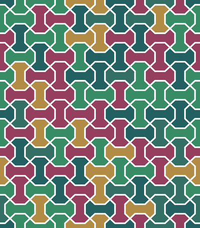 fine: Geometric fine abstract vector background. Seamless modern colorful pattern