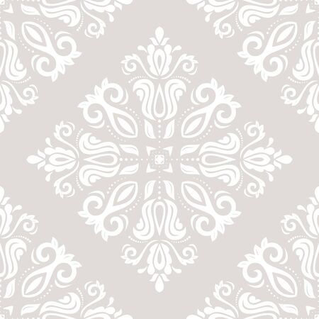 website background: Seamless oriental ornament in the style of baroque. Traditional classic vector light pattern