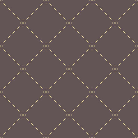 dotted lines: Geometric repeating ornament with diagonal dotted lines. Seamless abstract modern brown and golden pattern