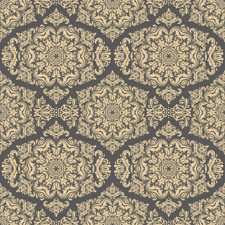 gold leafs: Oriental classic golden ornament. Seamless abstract pattern