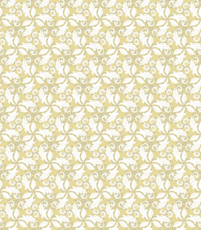 repeats: Floral ornament. Seamless abstract background with fine golden pattern